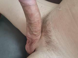 Playing with drop of precum and with my cock