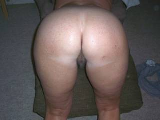 Oh Baby, I'd open your ass and stick my dick deep inside your pussy!  Your position in just right!