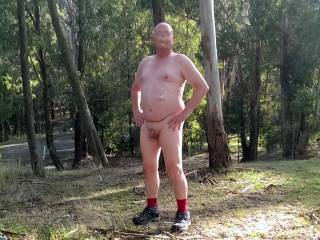In a public park. Just after I slipped my shorts back on a bunch of women waled past. Once again a total stranger took this for me. Amazing what people will do for you if you ask nicely