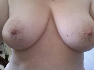 what do you think of my wifes tits would you cum on these?