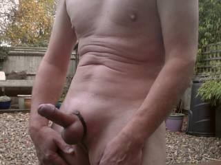 It is nice that today is warm enough to be totally nude outdoors