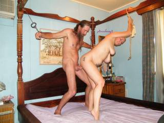wow... so sexy couple :) can i be tied in your room? :P