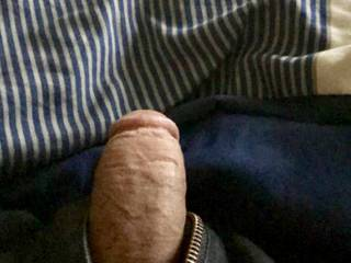 Waiting for my neighbor to come suck my cock