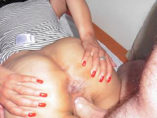 my slut loves to spread her ass for me while i fuck her, what do u think about this nice hole?