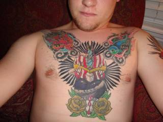 LOVE IT !! I don't think any man can have to many tattoo's