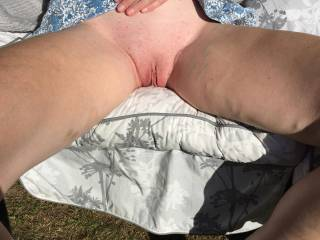 Sitting in the sun thinking about having my pussy licked by a woman for the first time  Any offers??
