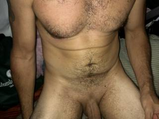 Don't you all just love a big dick on a man with a wonderful body!! What do you think we should do to him !?!
