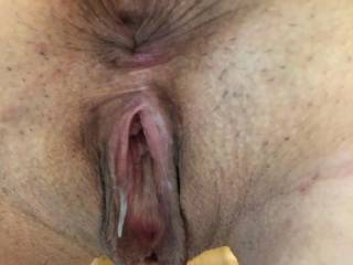 My used pussy after they were done, comments?