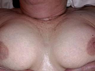 38D granny tits waiting for a titfuck
