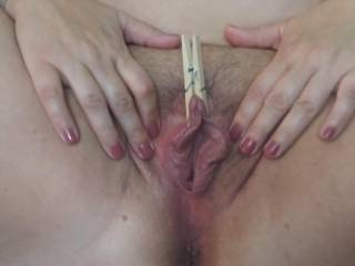 Showing me her pretty pussy