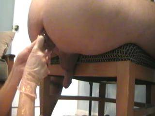 Fantastic video and i love to fill and stretch my ass with big toys too. I wish I could meet some other kinky people like you near to home. Thanks for the uplaod crazy1ns4phun