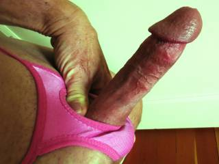 really hard in my pink thong