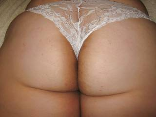 Wow, just love way your knickers are pulled into your arse cheeks.Got my cock up for sure. x