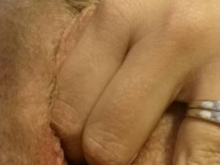 she tells me 2 fingers is not as wide as my cock.