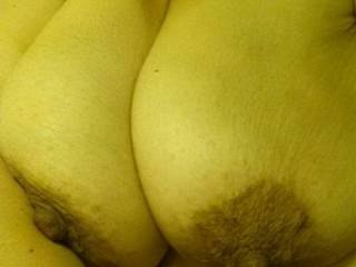 dark areola.  my Dom loves the contrast.
