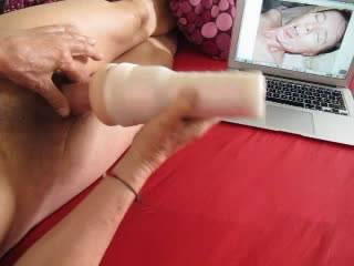 heavy noisy fucking with my new fleshlight toy - any cutie wanting to be my sex toy? What would you like to do with it?