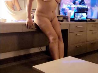 She is 55 years old and she still gets my dick hard like the first time I saw her.