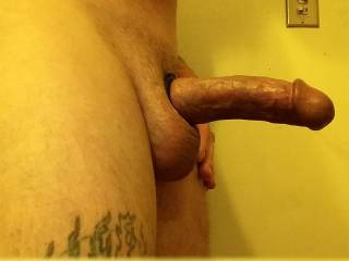 Got the cock ring on OMG