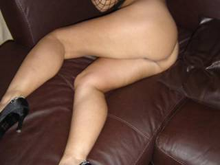 Oh no doubt, honey.  Don't know why you cover those beauties with red stalkings.  You have amazingly sexy bare legs.  I love seeing them in their au naturale state.  Matched with that ass.....perfection.  I'm about to stroke to this photo.  Thanks!!!!