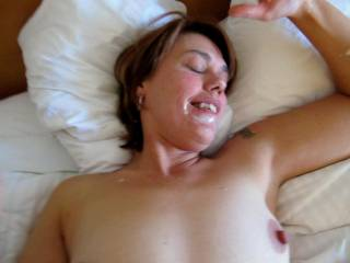 wearing a facial after an early morning bj. waiting for some help licking me clean!