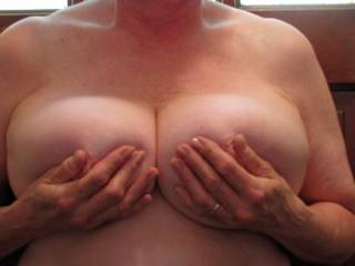 Just a little boob massage. Anyone like to help?