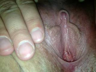 look at that clit! i would love to suck on that for hours