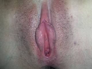by the redness of her hot pussy and her swollen lips, it looks like it was one wonderful night for you boht!  super hot!