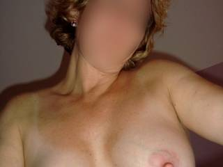 Like so many others, your tits have always grabbed my attention. I could pick those beautiful, full, firm, pale mounds with their erect, pink, eraser-tip nipples out of a lineup of breasts any day of the week.
