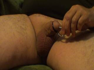 Stuffing my cock with 3 different Sounds and enjoying a nice orgasm with a messy cumshot. What do you think???