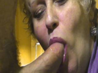 What can one say?  The sight of you sucking cock is one of the most arousing things that I have ever seen.My cock is fit to burst.Simply awesome,as they say.xx