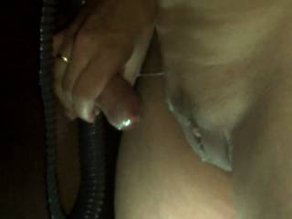 I loved it. watching her stroke your penis and ejaculating on her mound made me hard and horny. Also loved seeing her pussy lips