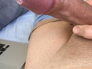 want to lick it,taste it, oozing pre-cum ,  mmm,