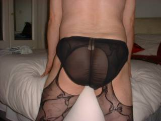 Just trying on various panties to see how they look with my new suspender tights