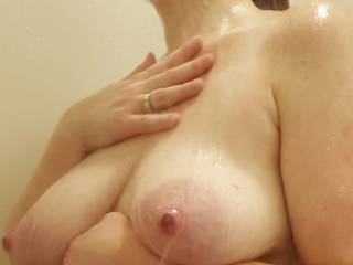 who wants to help me clean my body?  So much work washing these big milk filled breasts!