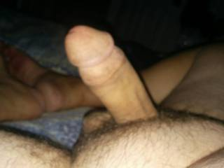 Laying on bed waiting for wife or get out of shower