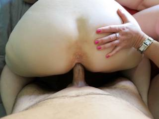 My friend giving me a good view