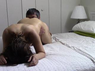 Licking Diana's pussy and ass.  Yummy!