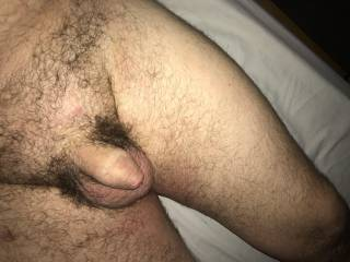His small cock after I have finished with him... empty