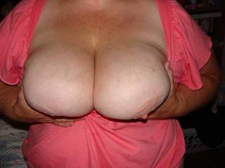 Wifes awesome tits that I love to play with :)