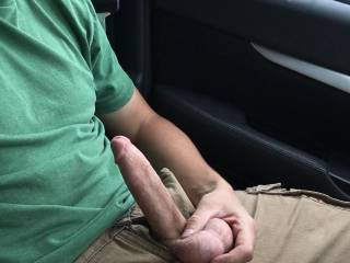 Caught jerking off in the car!!