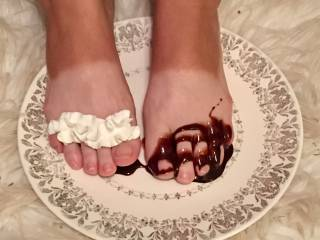 They were just too delicious looking all bare and naked. Added some chocolate syrup and whipped cream for additional fun.