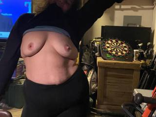 Wife posing for you