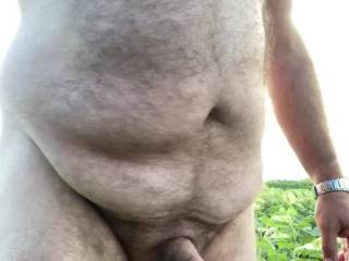 Was out and was horny, I stopped and had to shoot and nice big load.