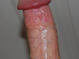 I'll say it is....all nice and shiny....I like shiny cocks that are ready for action.  K