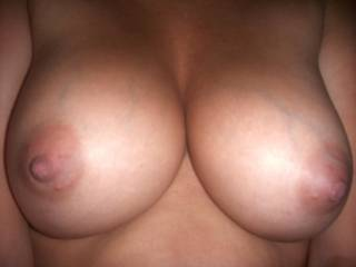 I'd like to have both my face and my black cock between your big white 38D tits!!!