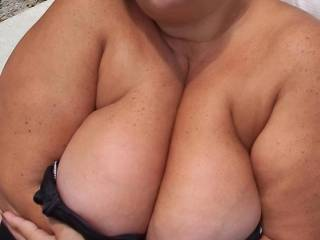 Mmmm, I wish you were staying at the hotel I work in... We don't have a pool, but I'm sure I could find somewhere for you to wear a swimsuit ;) Or maybe even less... I'd love to see those big tits in the flesh, so I could fuck them and cum all over them to show you how much I enjoy them ;)