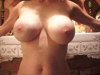 Wow!  What an incredibly delicious body and amazing tits that are so sweet and begging for me to play, lick and suck on!!