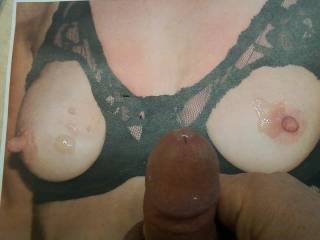 OMG I love seeing your cock and cum on me and mmmmmmmmmmm I love to have my little titties cummed on