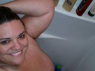 Another picture of my sexy bbw wife in the shower