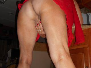 I am liking this view right now ! Love to lick my way up your legs to your sweet spot(s) !